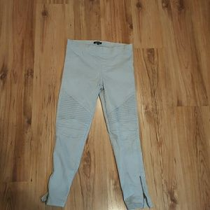 Light Blue Moto Skinnys